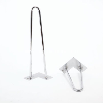 Heavy Duty metal chrome hairpin legs